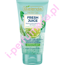 Bielenda Fresh Juice Limonka peeling gruboziarnisty do twarzy 150g